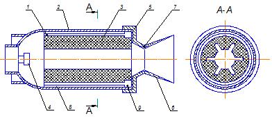 Проектирование ракетного двигателя первой ступени двухступенчатой баллистической ракеты